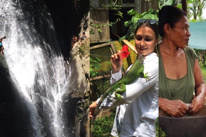 City tour, Bri Bri Chocolate Lady, Iguana Sanctuary & Waterfalls